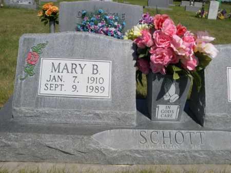 SCHOTT, MARY B. - Dawes County, Nebraska   MARY B. SCHOTT - Nebraska Gravestone Photos