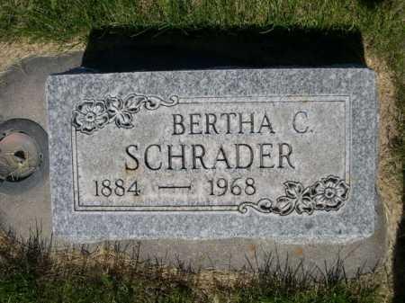 SCHRADER, BERTHA C. - Dawes County, Nebraska | BERTHA C. SCHRADER - Nebraska Gravestone Photos