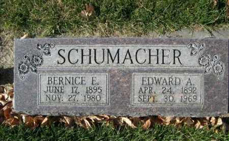 SCHUMACHER, EDWARD A. - Dawes County, Nebraska | EDWARD A. SCHUMACHER - Nebraska Gravestone Photos
