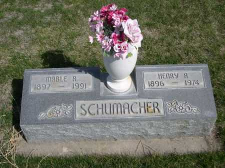SCHUMACHER, HENRY A. - Dawes County, Nebraska | HENRY A. SCHUMACHER - Nebraska Gravestone Photos