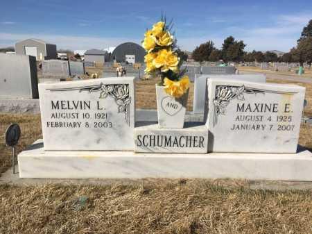 SCHUMACHER, MELVIN L. - Dawes County, Nebraska   MELVIN L. SCHUMACHER - Nebraska Gravestone Photos
