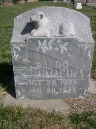 SCHUMACHER, WALDO - Dawes County, Nebraska   WALDO SCHUMACHER - Nebraska Gravestone Photos