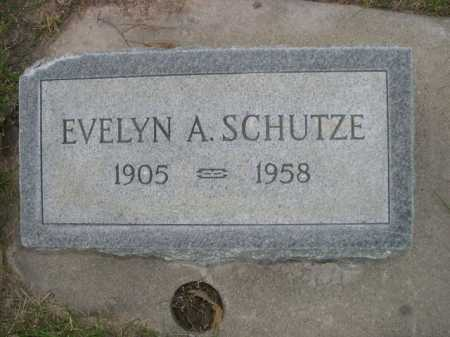 SCHUTZE, EVELYN A. - Dawes County, Nebraska | EVELYN A. SCHUTZE - Nebraska Gravestone Photos