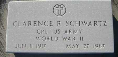 SCHWARTZ, CLARENCE R. - Dawes County, Nebraska | CLARENCE R. SCHWARTZ - Nebraska Gravestone Photos