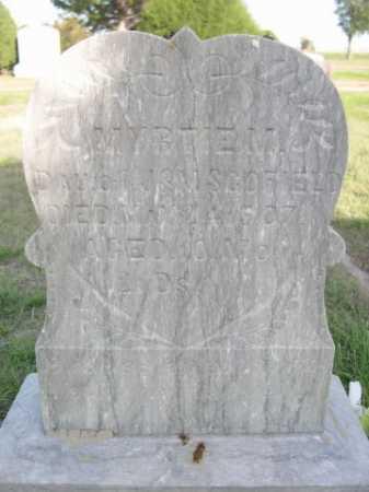 SCOFIELD, MYTRLE M. - Dawes County, Nebraska   MYTRLE M. SCOFIELD - Nebraska Gravestone Photos