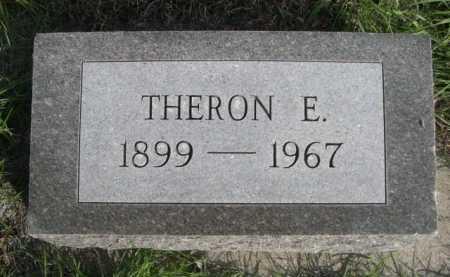 SCOFIELD, THERONE E. - Dawes County, Nebraska   THERONE E. SCOFIELD - Nebraska Gravestone Photos