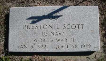 SCOTT, PRESTON L. - Dawes County, Nebraska | PRESTON L. SCOTT - Nebraska Gravestone Photos