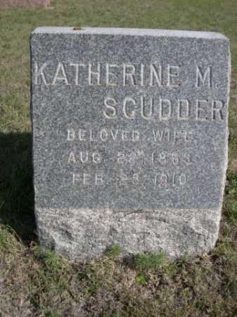 SCUDDER, KATHERINE M. - Dawes County, Nebraska   KATHERINE M. SCUDDER - Nebraska Gravestone Photos