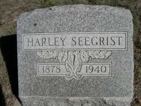 SEEGRIST, HARLEY - Dawes County, Nebraska | HARLEY SEEGRIST - Nebraska Gravestone Photos