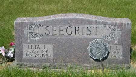 SEEGRIST, LETA L. - Dawes County, Nebraska | LETA L. SEEGRIST - Nebraska Gravestone Photos