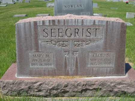 SEEGRIST, MARY M. - Dawes County, Nebraska | MARY M. SEEGRIST - Nebraska Gravestone Photos