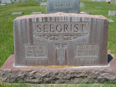 SEEGRIST, MARY M. - Dawes County, Nebraska | MARY M. SEEGRIST - Nebraska Gravestone Photos