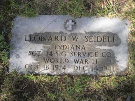 SEIDELL, LEONARD - Dawes County, Nebraska | LEONARD SEIDELL - Nebraska Gravestone Photos