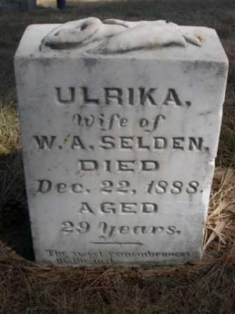 SELDEN, ULRIKA - Dawes County, Nebraska | ULRIKA SELDEN - Nebraska Gravestone Photos