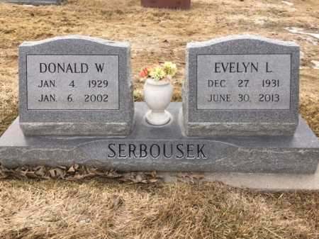 SERBOUSEK, DONALD W. - Dawes County, Nebraska | DONALD W. SERBOUSEK - Nebraska Gravestone Photos