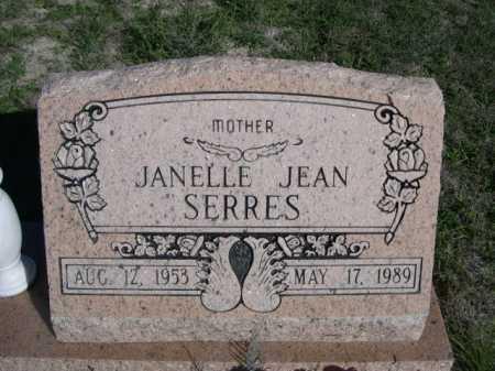 SERRES, JANELLE JEAN - Dawes County, Nebraska   JANELLE JEAN SERRES - Nebraska Gravestone Photos
