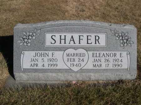 SHAFER, ELEANOR E. - Dawes County, Nebraska | ELEANOR E. SHAFER - Nebraska Gravestone Photos