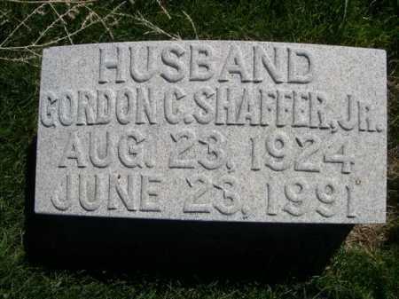 SHAFFER, GORDON C. JR. - Dawes County, Nebraska | GORDON C. JR. SHAFFER - Nebraska Gravestone Photos