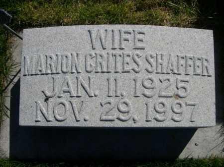 CRITES SHAFFER, MARION CRITES - Dawes County, Nebraska | MARION CRITES CRITES SHAFFER - Nebraska Gravestone Photos