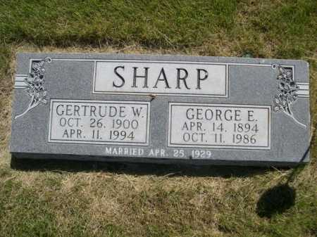 SHARP, GERTRUDE W. - Dawes County, Nebraska | GERTRUDE W. SHARP - Nebraska Gravestone Photos