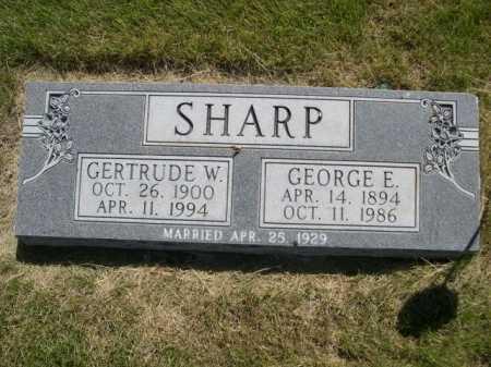 SHARP, GERTRUDE W. - Dawes County, Nebraska | GERTRUDE W. SHARP - Nebraska Gravestone Photos