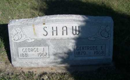 SHAW, GEORGE J. - Dawes County, Nebraska | GEORGE J. SHAW - Nebraska Gravestone Photos