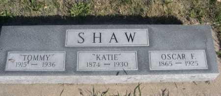 SHAW, OSCAR F. - Dawes County, Nebraska | OSCAR F. SHAW - Nebraska Gravestone Photos