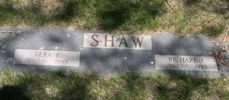 SHAW, RICHARD F. - Dawes County, Nebraska | RICHARD F. SHAW - Nebraska Gravestone Photos