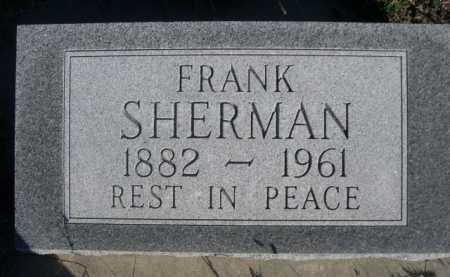 SHERMAN, FRANK - Dawes County, Nebraska   FRANK SHERMAN - Nebraska Gravestone Photos