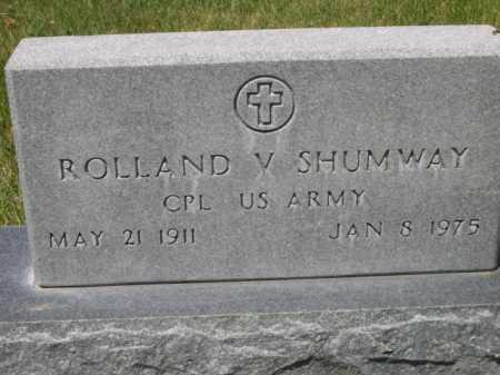 SHUMWAY, ROLLAND V. - Dawes County, Nebraska | ROLLAND V. SHUMWAY - Nebraska Gravestone Photos