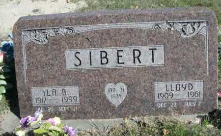 SIBERT, LLOYD - Dawes County, Nebraska | LLOYD SIBERT - Nebraska Gravestone Photos