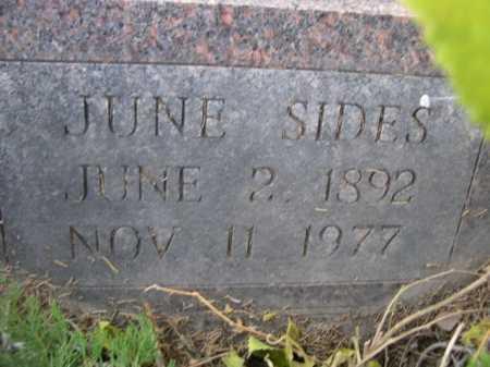 SIDES, JUNE - Dawes County, Nebraska | JUNE SIDES - Nebraska Gravestone Photos