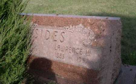 SIDES, LAWRENCE W. - Dawes County, Nebraska | LAWRENCE W. SIDES - Nebraska Gravestone Photos