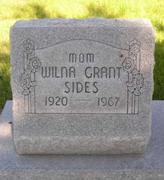 GRANT SIDES, WILNA - Dawes County, Nebraska | WILNA GRANT SIDES - Nebraska Gravestone Photos