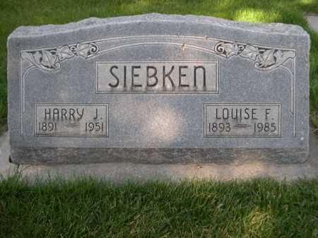 SIEBKEN, LOUISE F. - Dawes County, Nebraska | LOUISE F. SIEBKEN - Nebraska Gravestone Photos