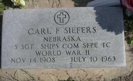 SIEFERS, CARL F. - Dawes County, Nebraska | CARL F. SIEFERS - Nebraska Gravestone Photos
