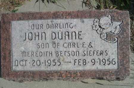 SIEFERS, JOHN DUANE - Dawes County, Nebraska | JOHN DUANE SIEFERS - Nebraska Gravestone Photos