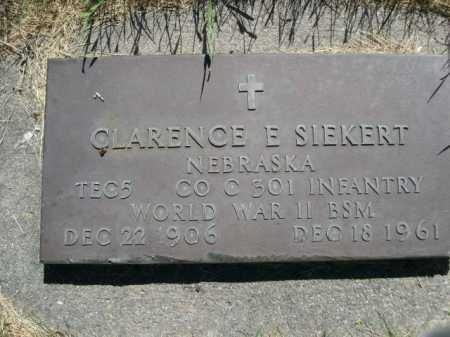 SIEKERT, CLARENCE E. - Dawes County, Nebraska | CLARENCE E. SIEKERT - Nebraska Gravestone Photos