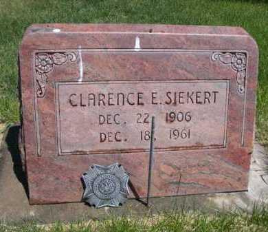 SIEKERT, CLARENCE E. - Dawes County, Nebraska   CLARENCE E. SIEKERT - Nebraska Gravestone Photos