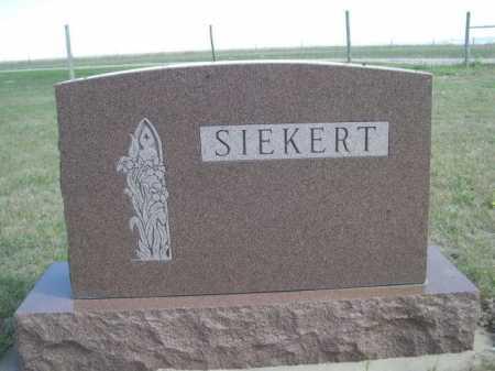 SIEKERT, FAMILY - Dawes County, Nebraska | FAMILY SIEKERT - Nebraska Gravestone Photos