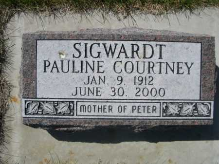 SIGWARDT, PAULINE COURTNEY - Dawes County, Nebraska | PAULINE COURTNEY SIGWARDT - Nebraska Gravestone Photos