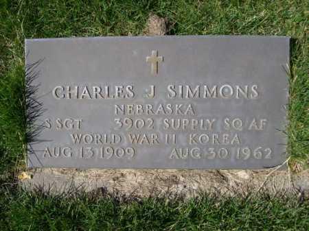 SIMMONS, CHARLES J. - Dawes County, Nebraska | CHARLES J. SIMMONS - Nebraska Gravestone Photos