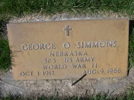 SIMMONS, GEORGE O. - Dawes County, Nebraska   GEORGE O. SIMMONS - Nebraska Gravestone Photos