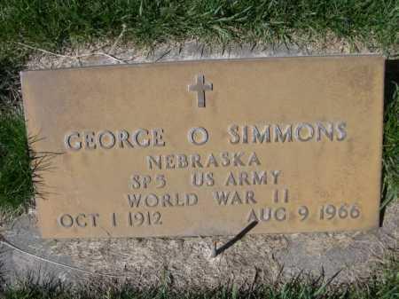 SIMMONS, GEORGE O. - Dawes County, Nebraska | GEORGE O. SIMMONS - Nebraska Gravestone Photos