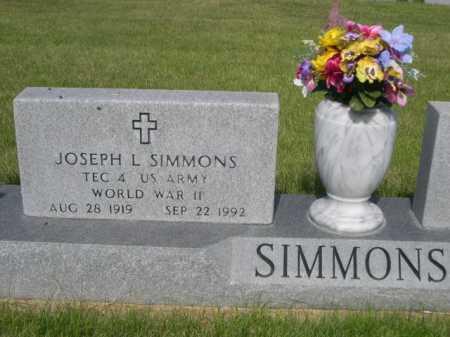 SIMMONS, JOSEPH L. - Dawes County, Nebraska | JOSEPH L. SIMMONS - Nebraska Gravestone Photos