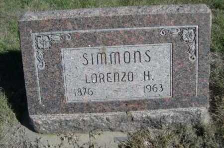 SIMMONS, LORENZO H. - Dawes County, Nebraska | LORENZO H. SIMMONS - Nebraska Gravestone Photos