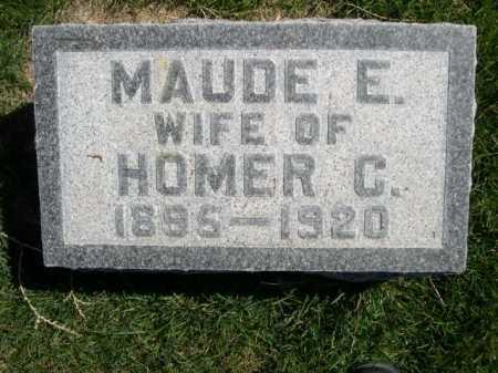 SIMMONS, MAUDE E. - Dawes County, Nebraska   MAUDE E. SIMMONS - Nebraska Gravestone Photos