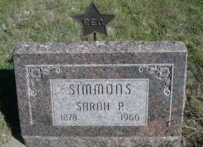SIMMONS, SARAH P. - Dawes County, Nebraska   SARAH P. SIMMONS - Nebraska Gravestone Photos