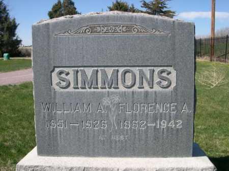 SIMMONS, FLORENCE A. - Dawes County, Nebraska | FLORENCE A. SIMMONS - Nebraska Gravestone Photos