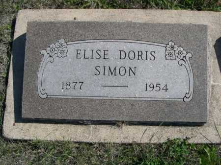SIMON, ELISE DORIS - Dawes County, Nebraska | ELISE DORIS SIMON - Nebraska Gravestone Photos